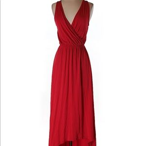 Old Navy red, high low dress